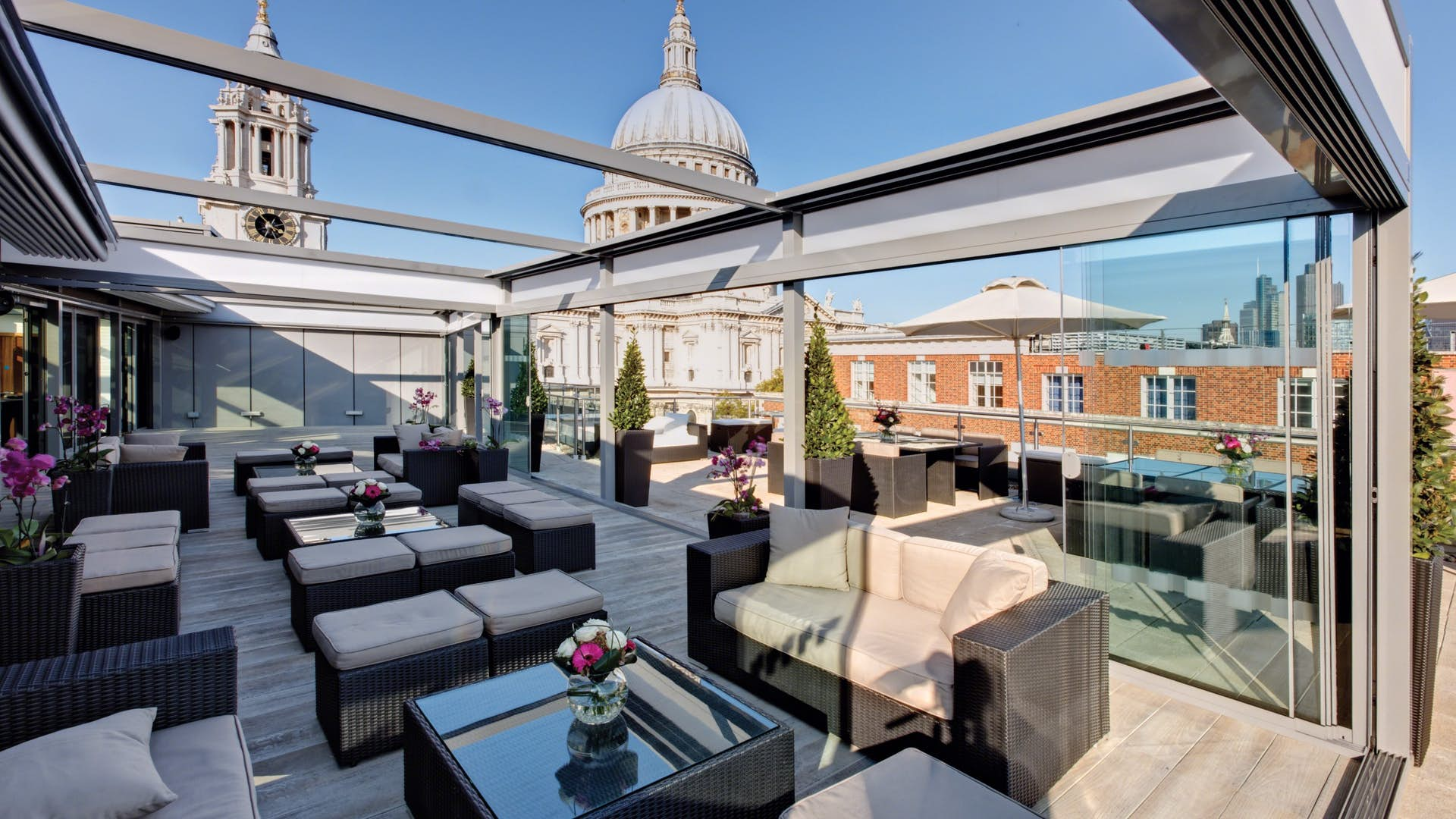 Lounge space st pauls rooftop terrace