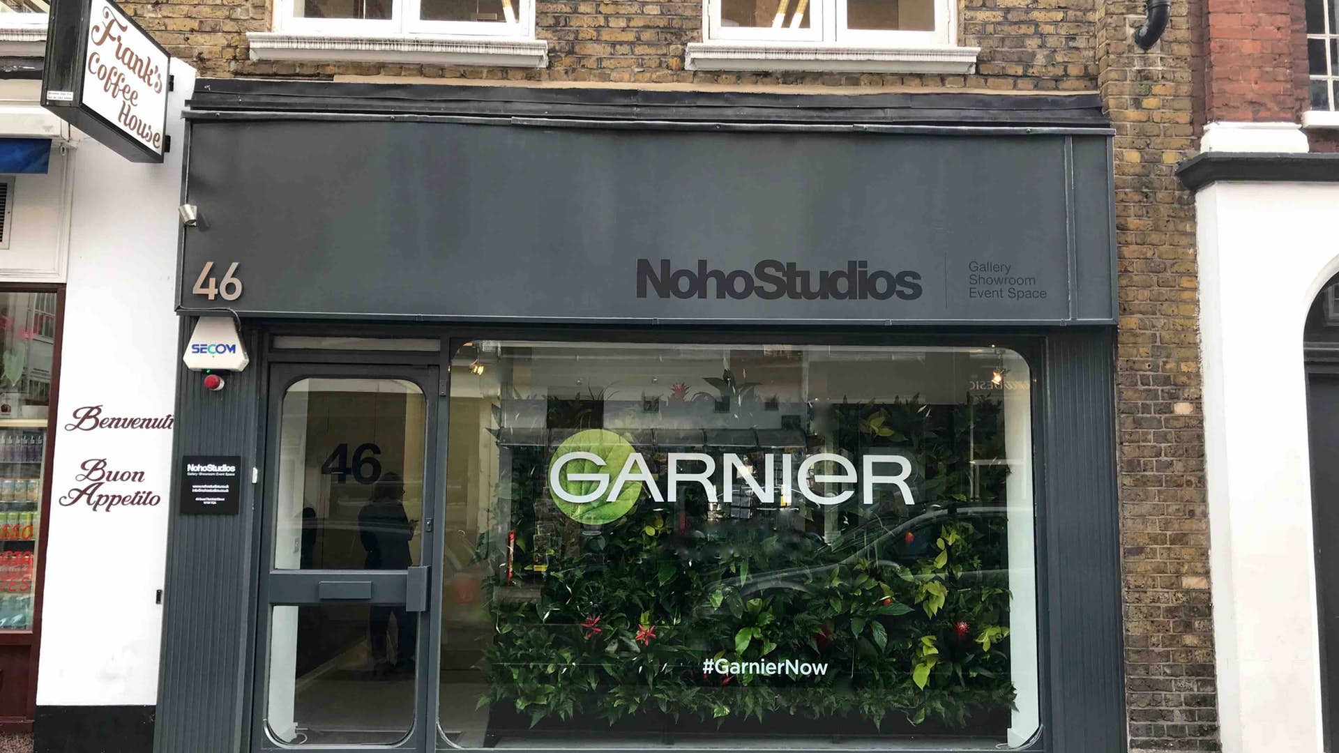 Front window of Noho Studios