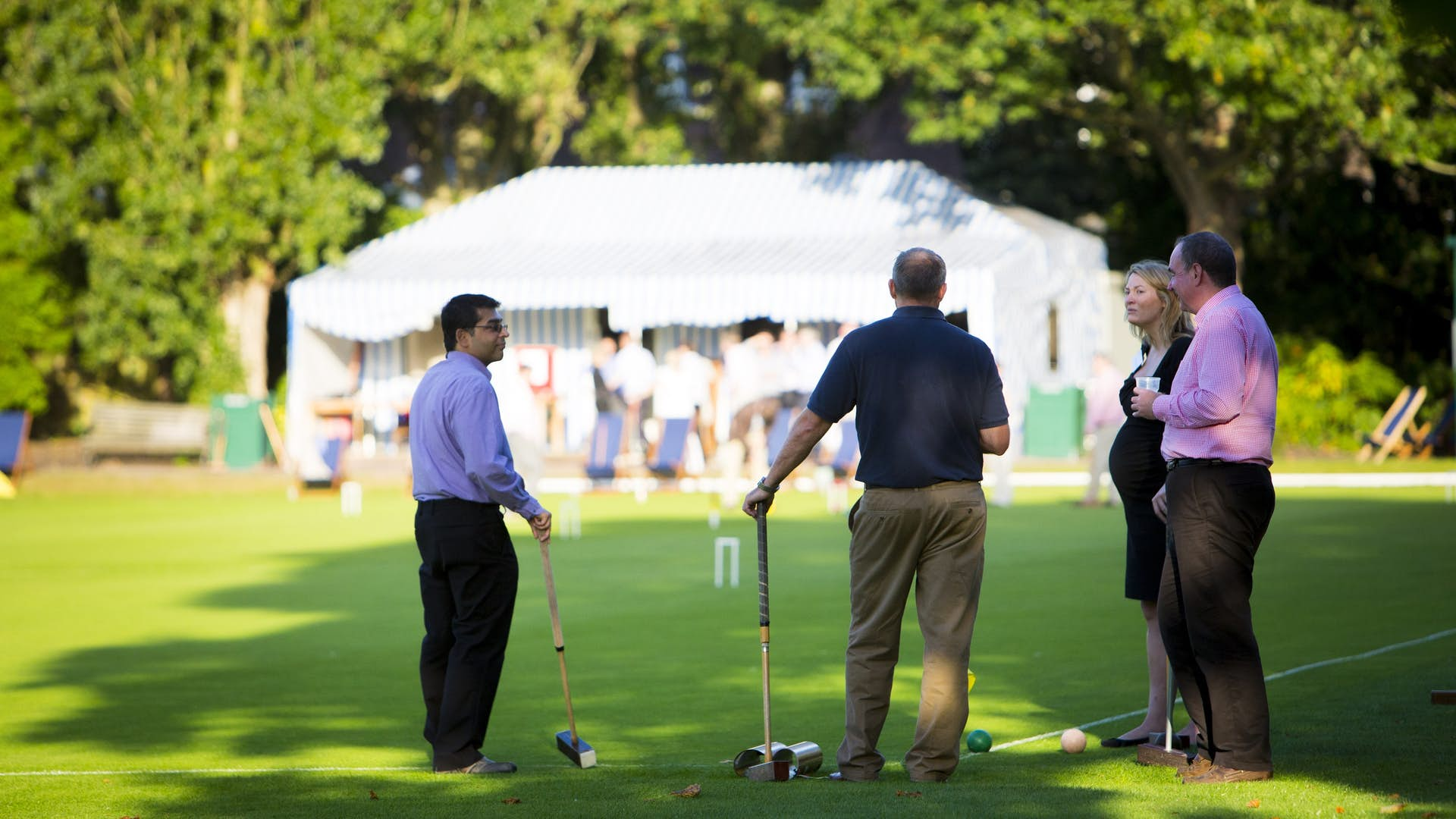 Croquet on the Hurlingham Club Lawns