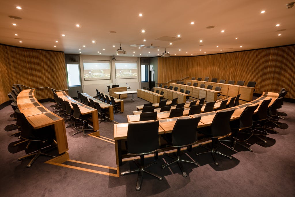 Harvard Style Lecture theatre at the Said Business School