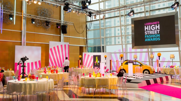 Colourful 60s theme event