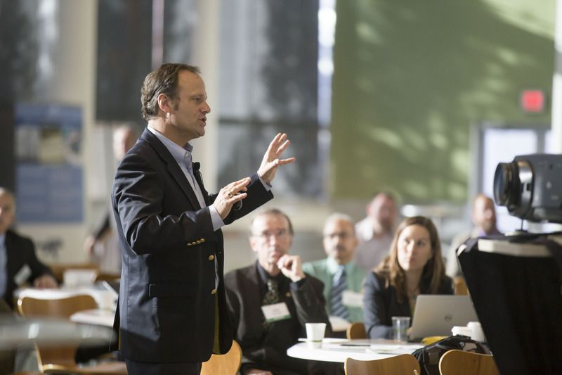 Man speaking at an event