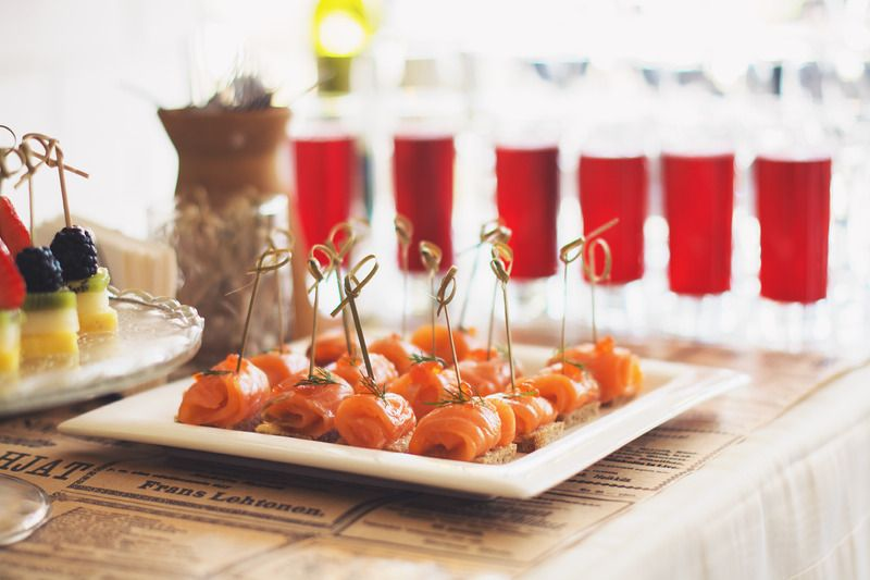 Provide canapes as an extra for your virtual event