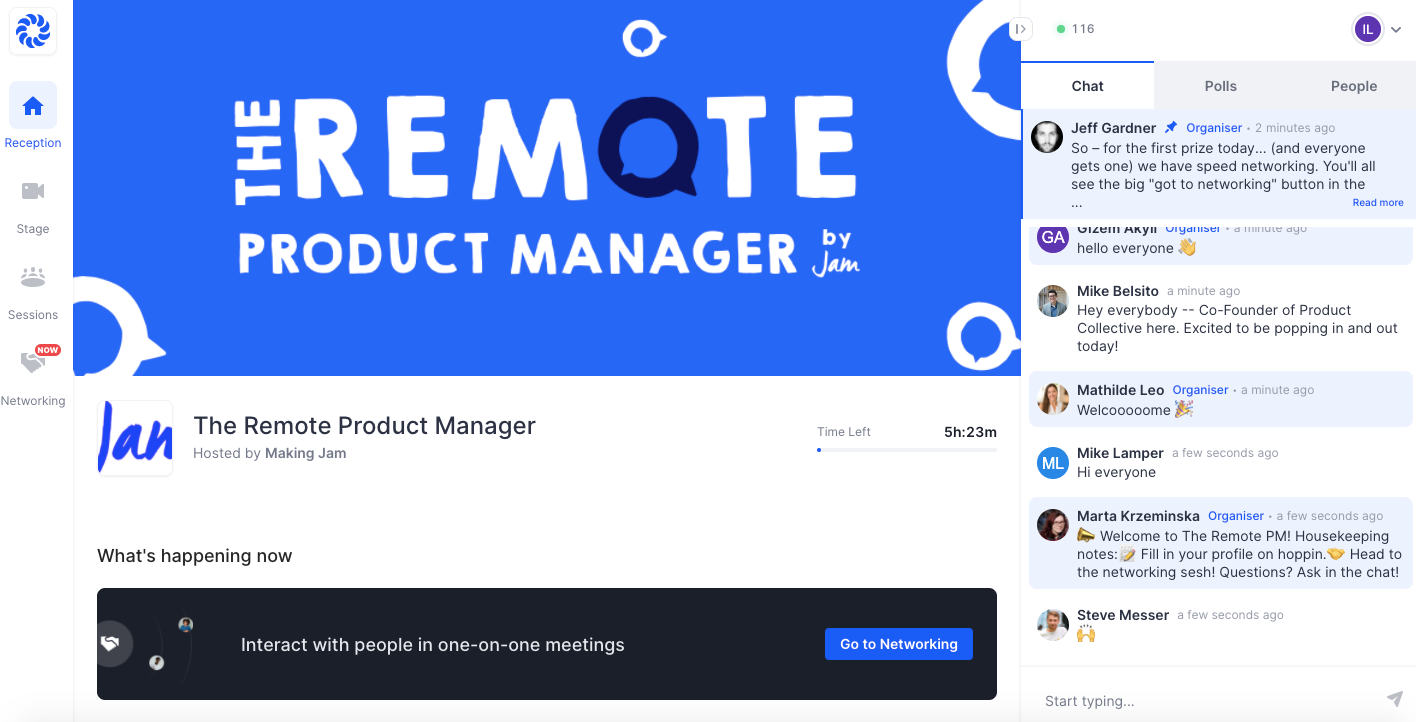 Remote Project Manager event