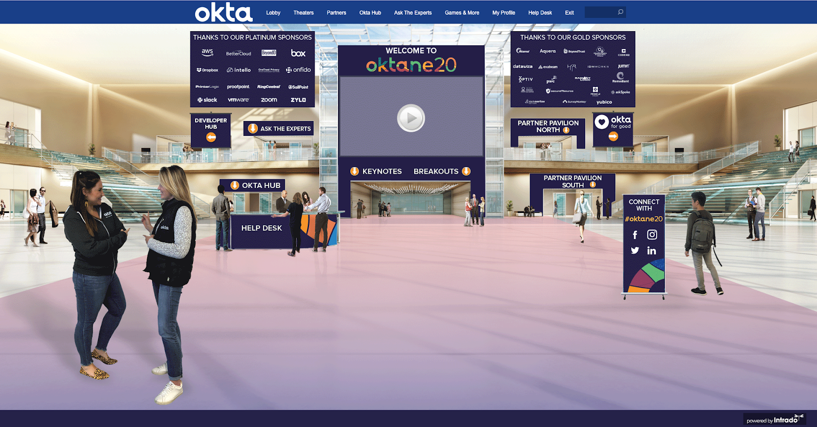 Oktane virtual lobby