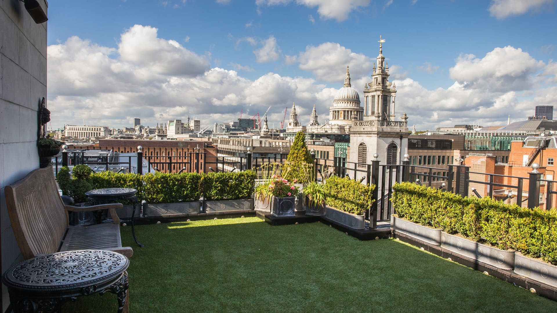 The roof terrace at Vintners' Hall