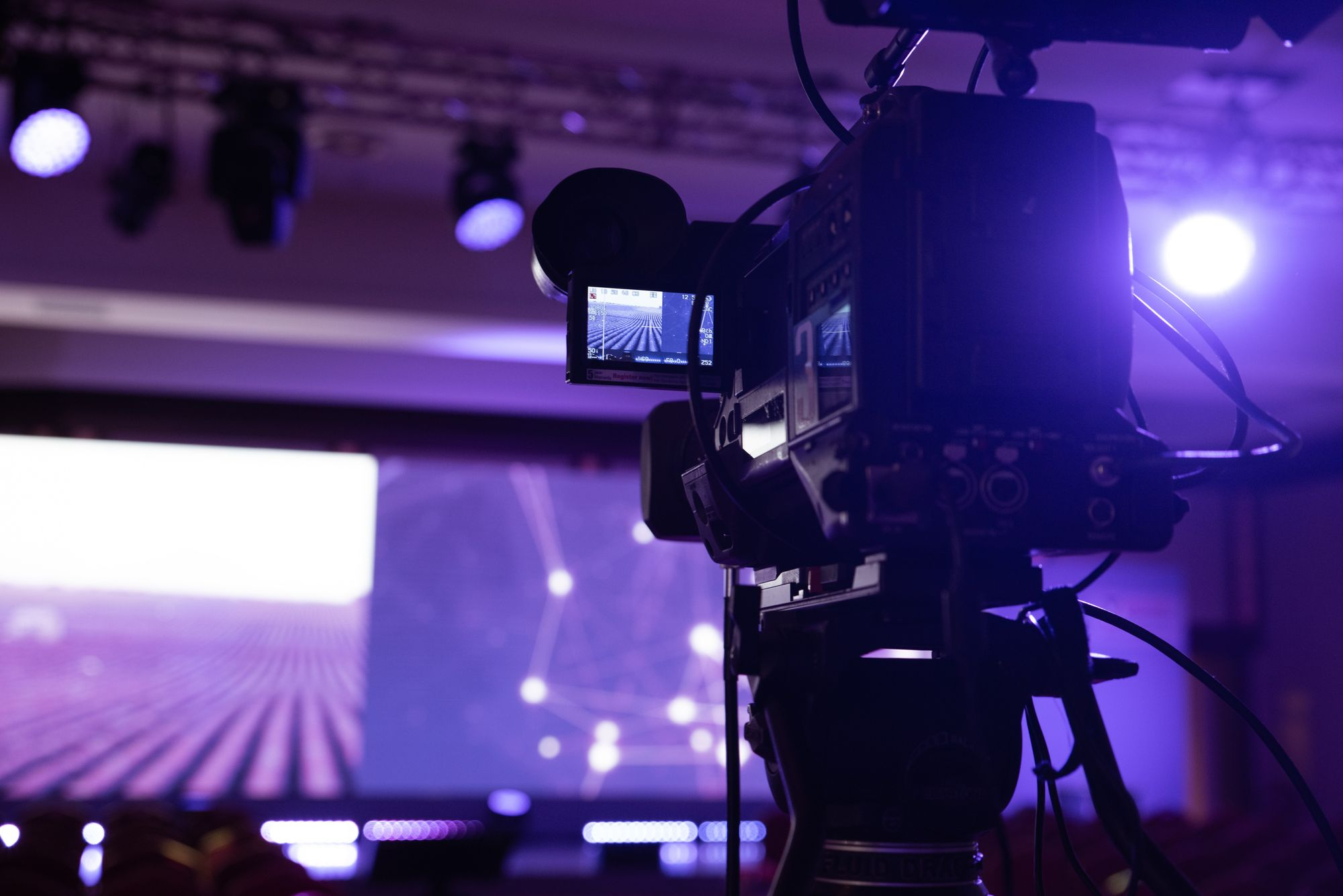 video recording an event