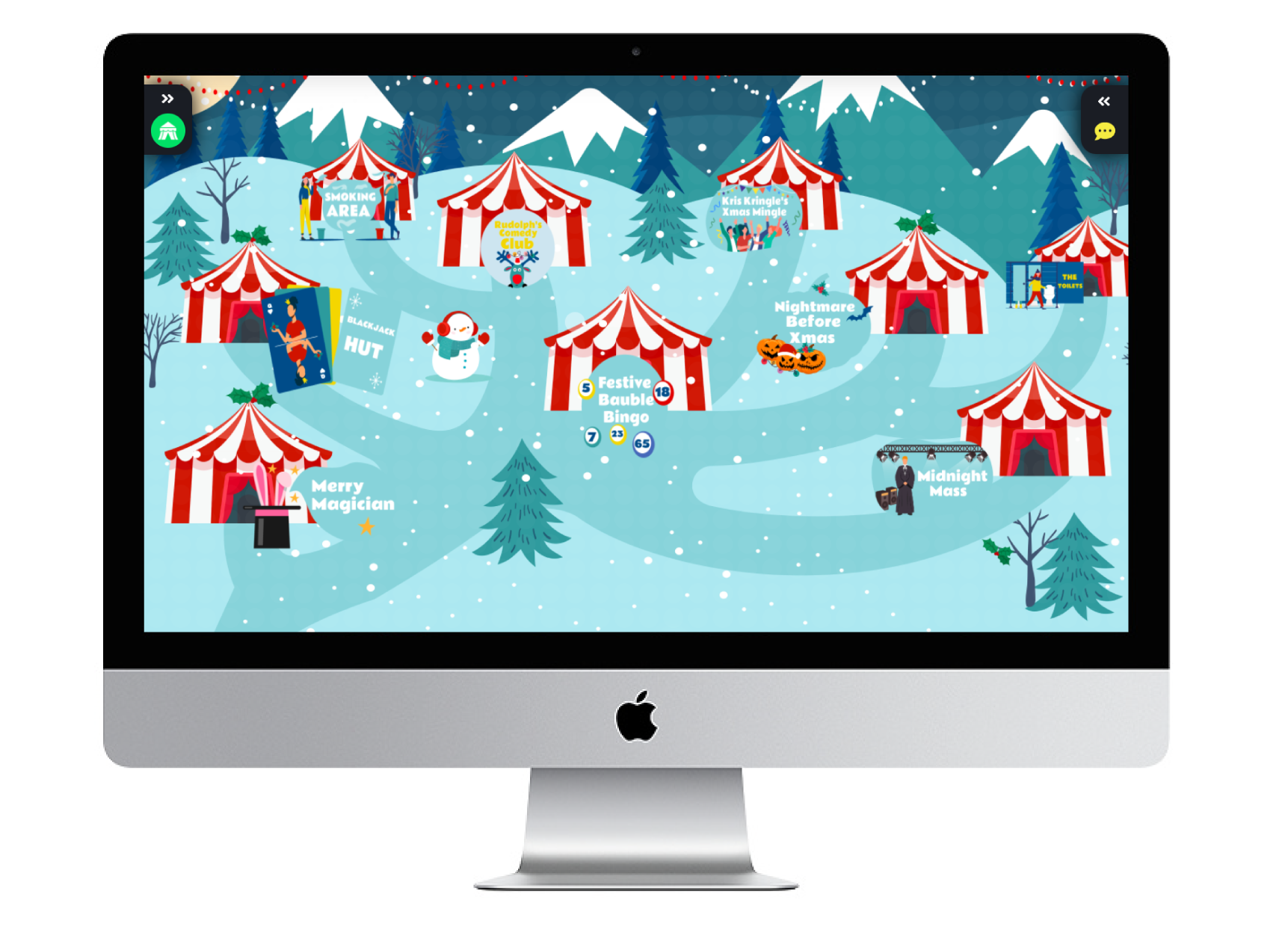 The Big Top Christmas Party Map