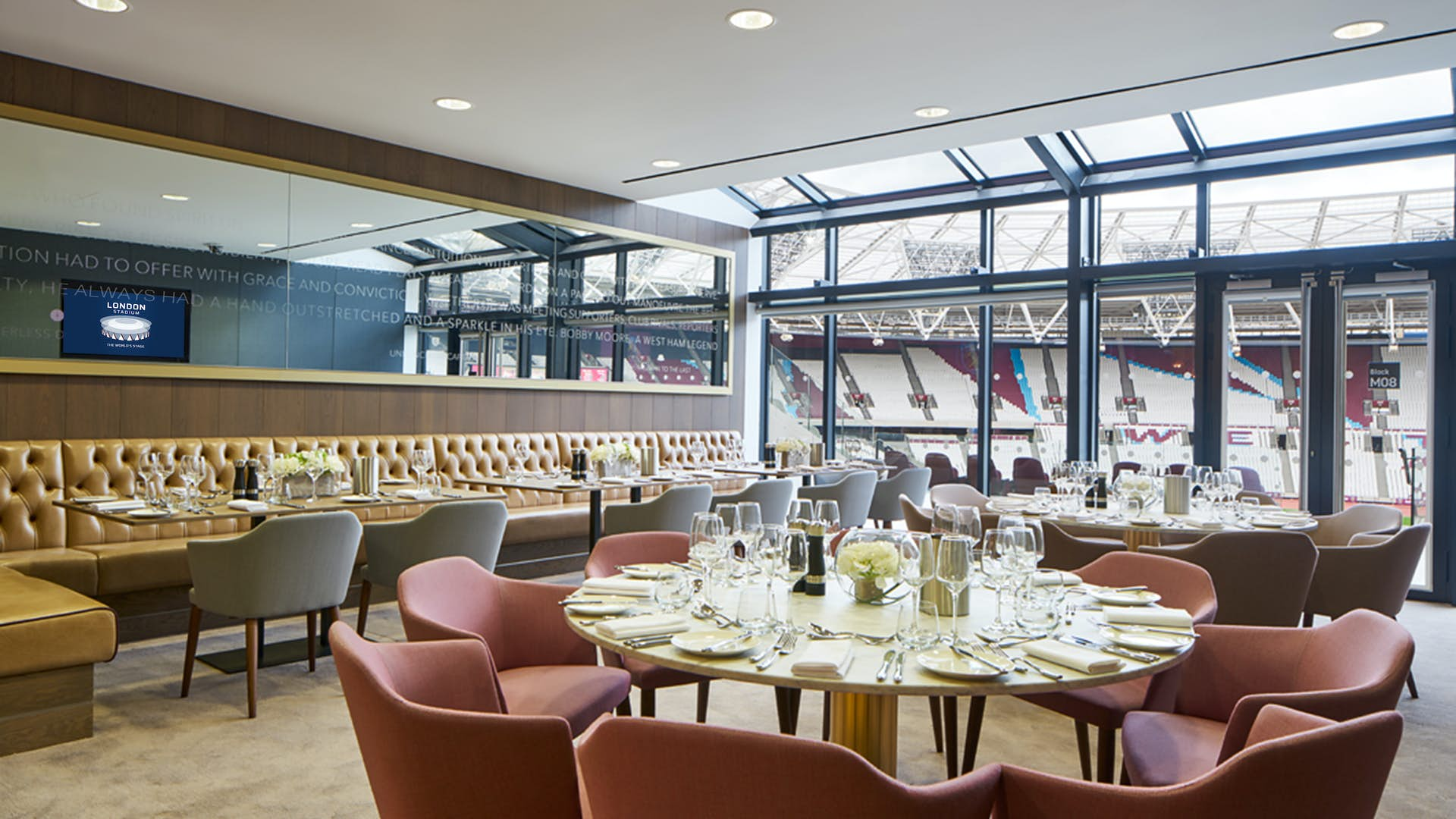 BM6 dining room with stadium view