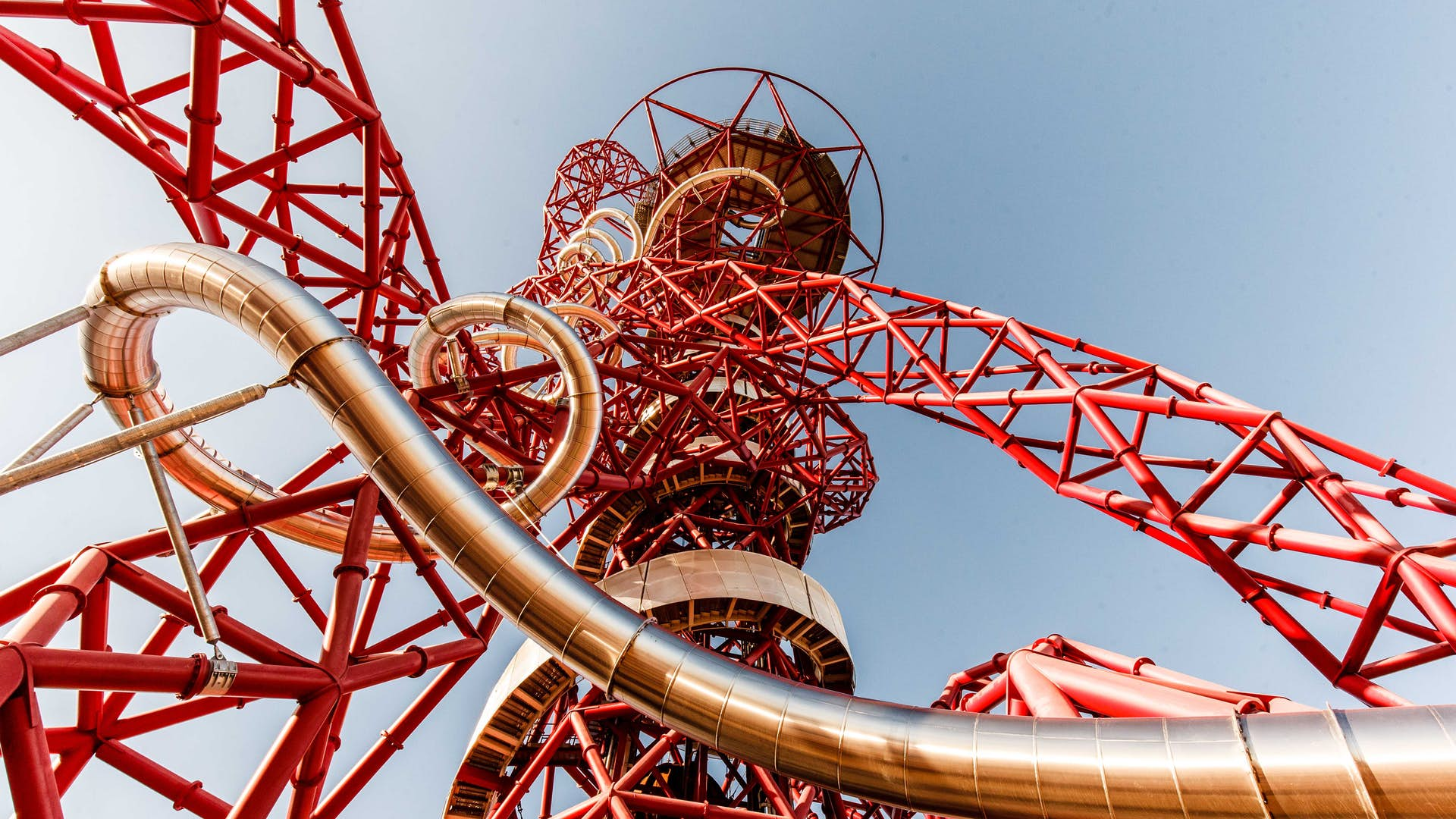 ArcelorMittal Orbit's structure and slide