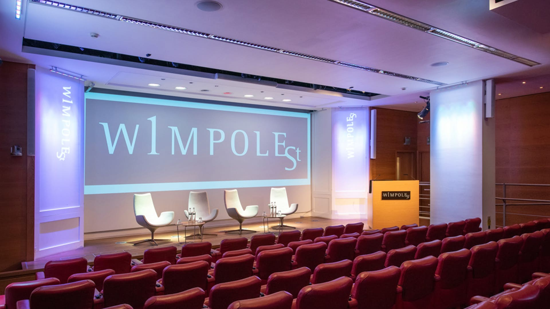 Auditorium view at 1 Wimpole Street