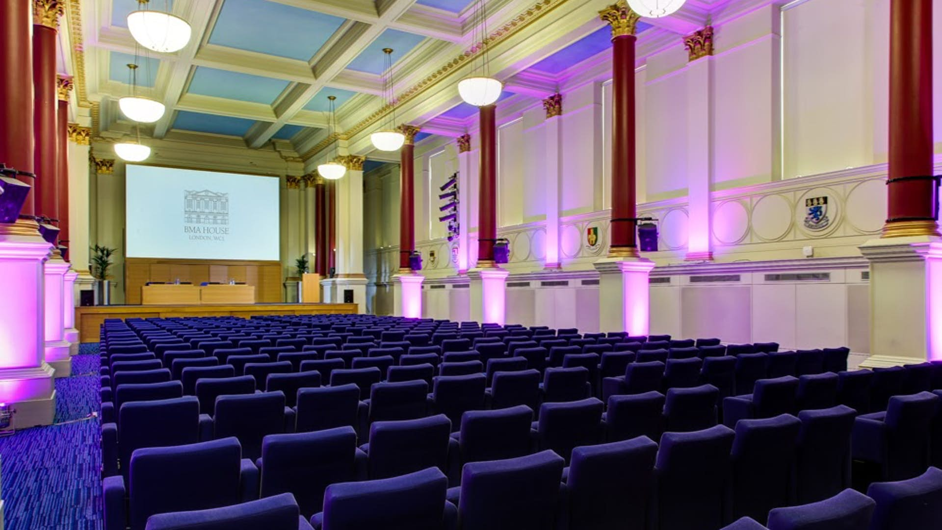 Conference set up at BMA house