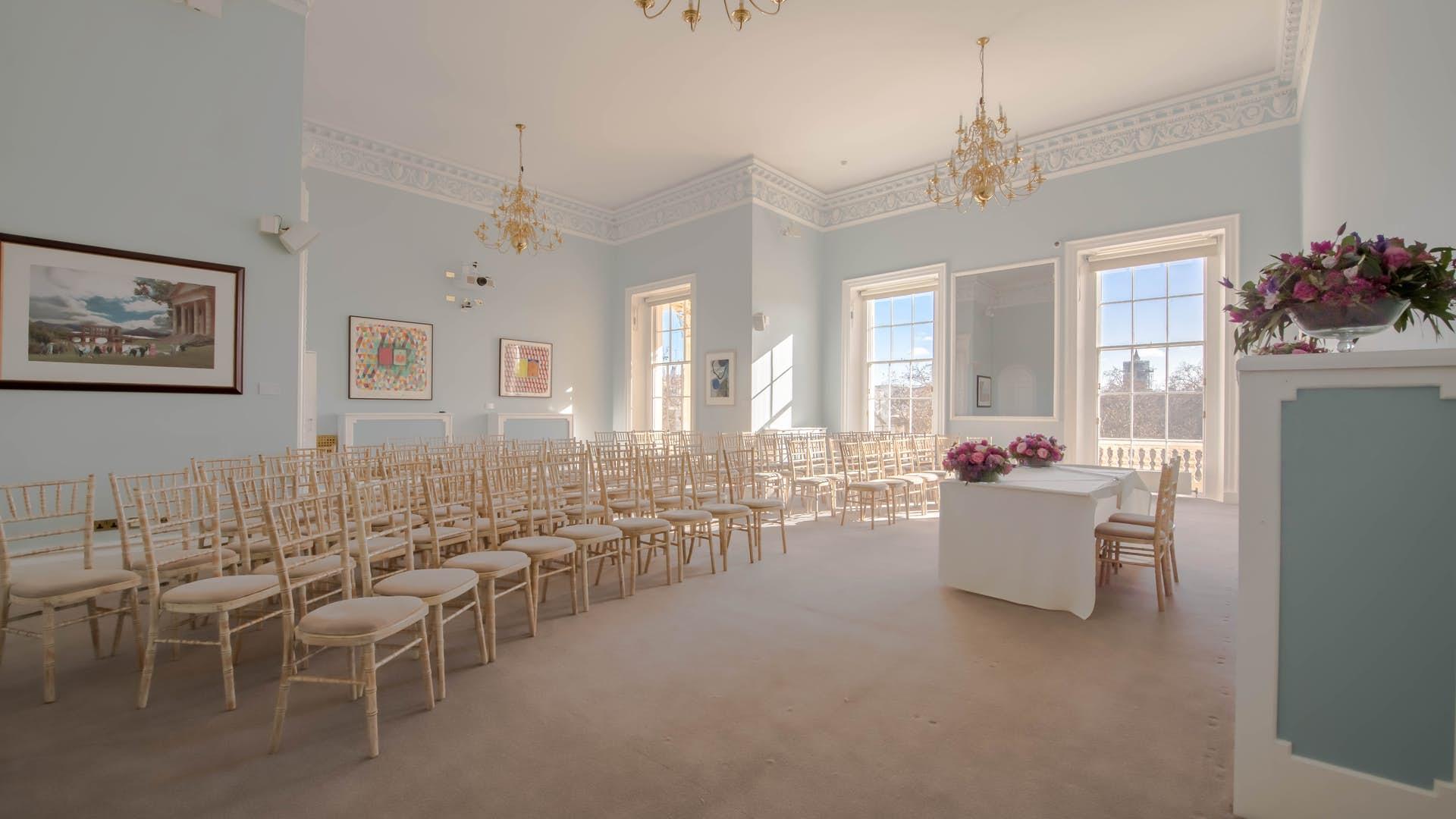 Wedding set up at Carlton House Terrace