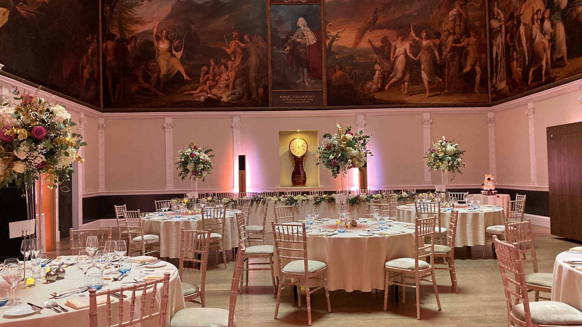 The Great Room dining set up
