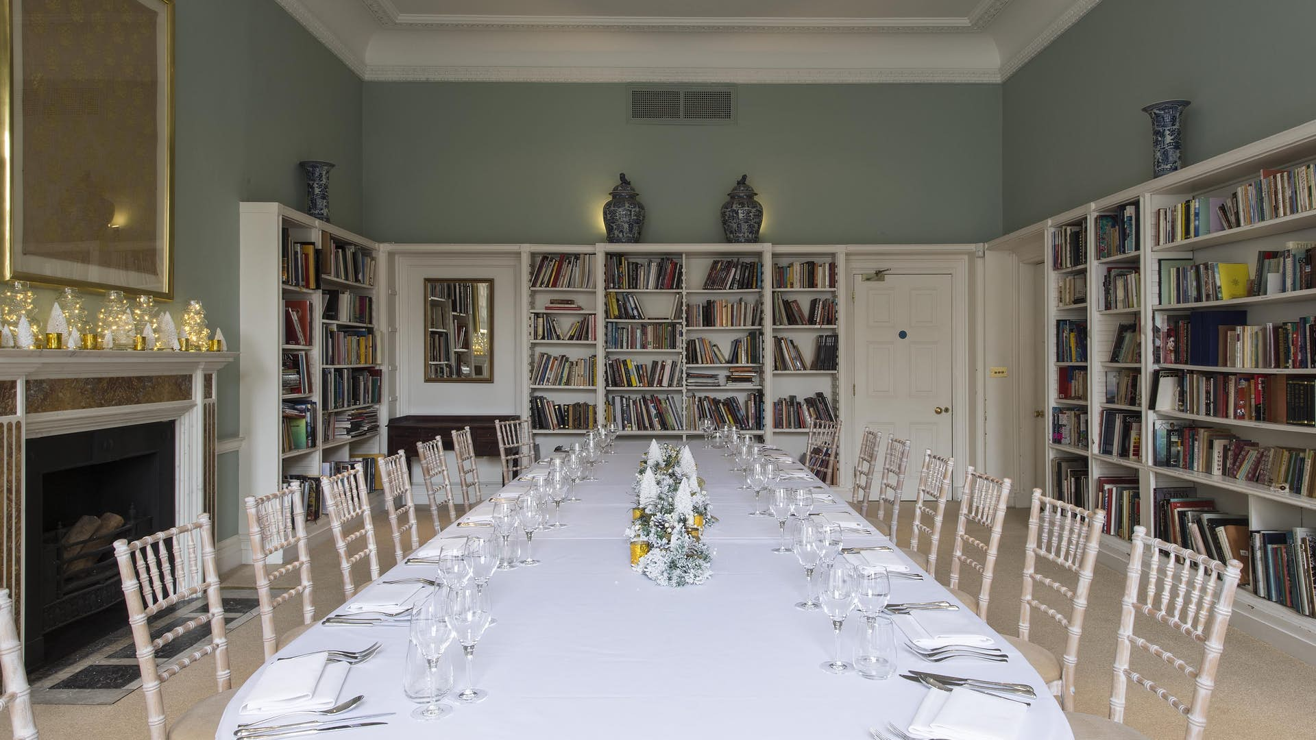 Dining set up at Asia House