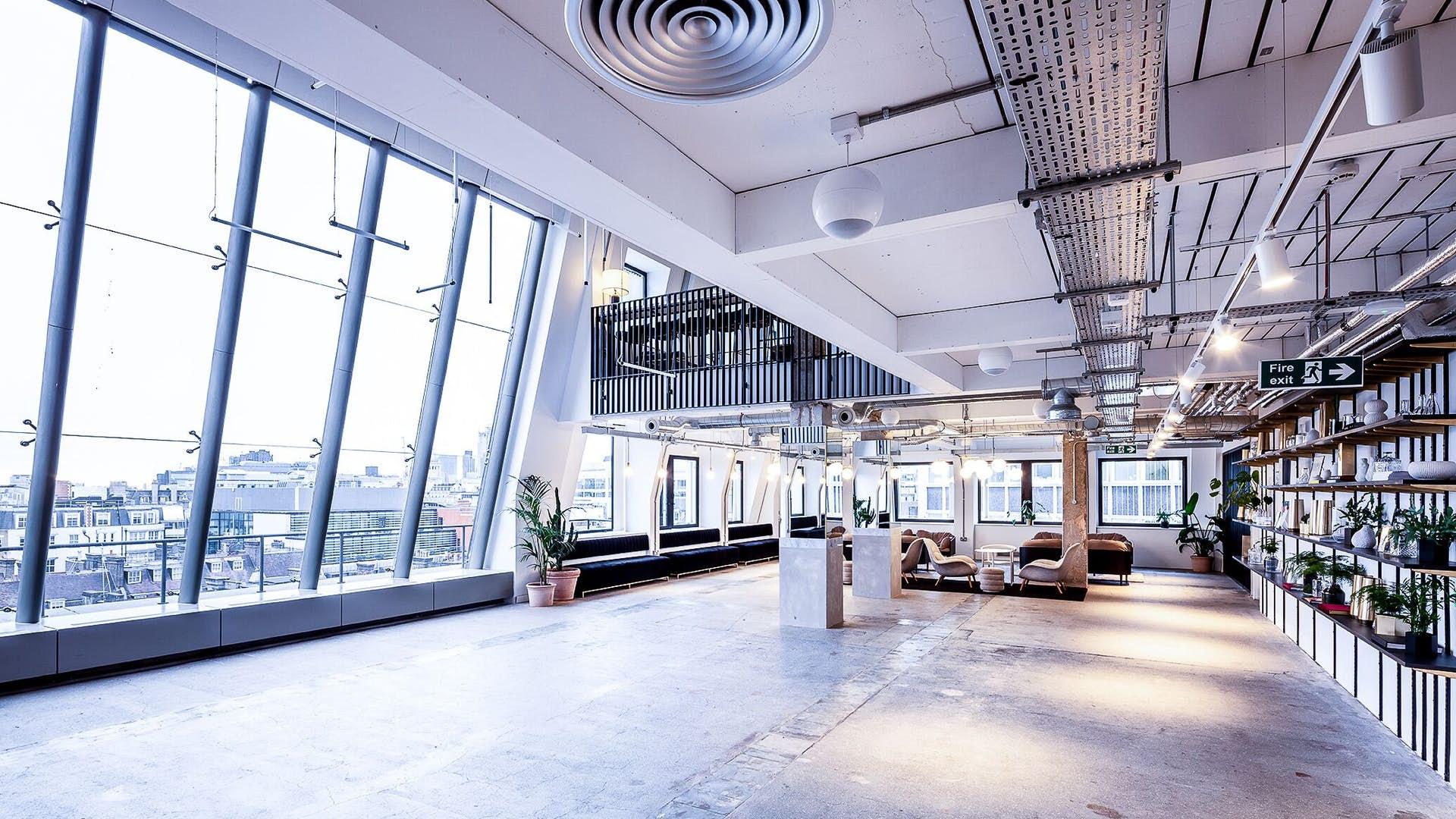 Open floor of LABS House Holborn's 7th Floor