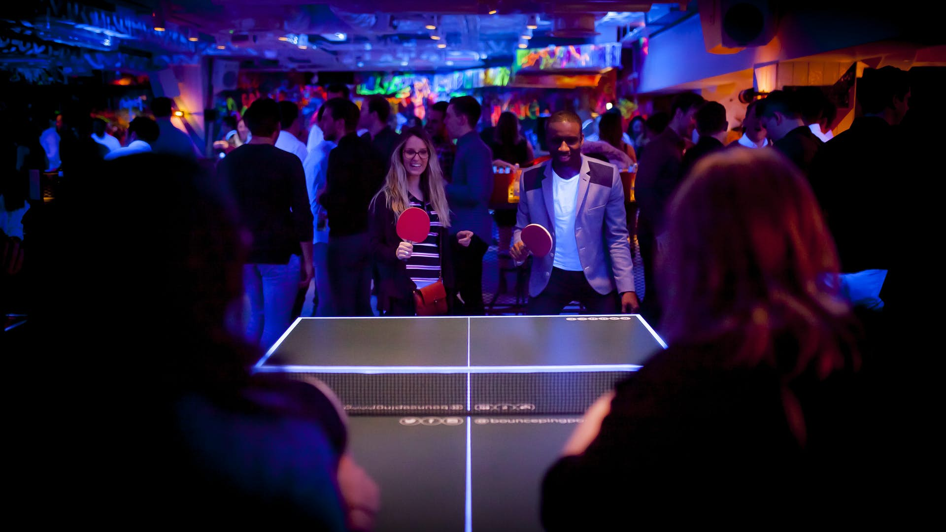 Bounce ping pong table